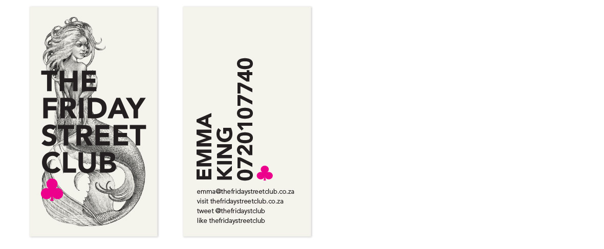 The Friday Street Club Business Card