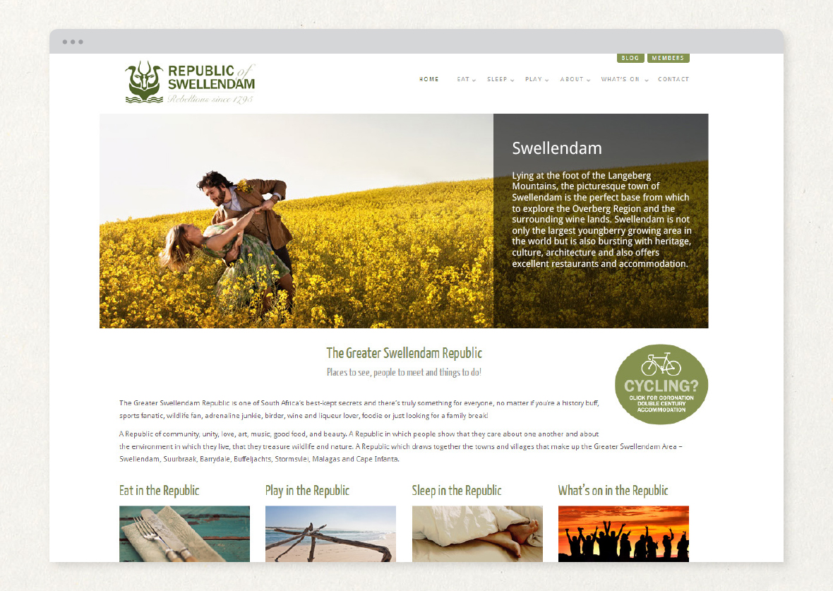 Swellendam Tourism Organisation Website