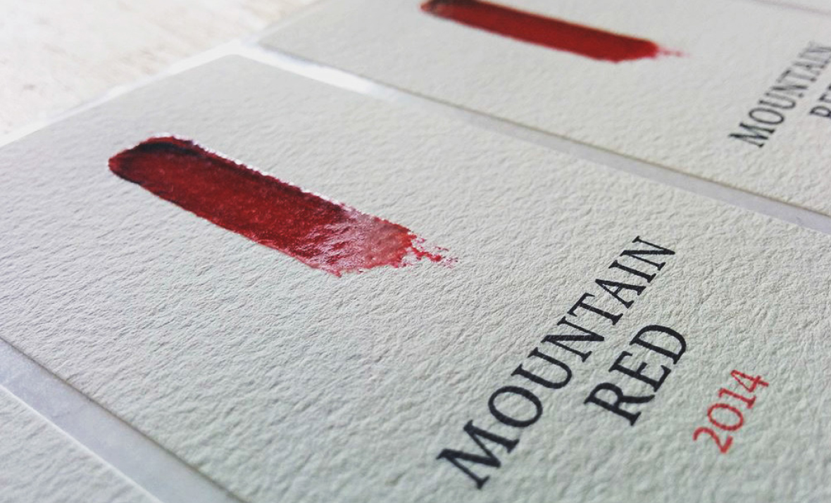 Rooiberg Winery Red Paint Swatch Wine Label