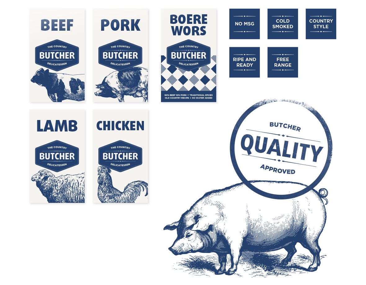 The Country Butcher Labels
