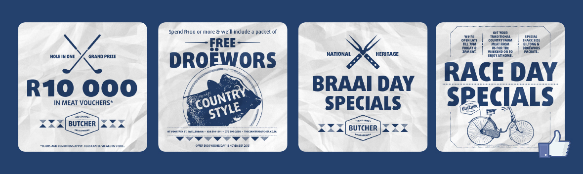 The Country Butcher Facebook Adverts